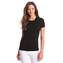 Camiseta Básica Lisa Gola Redonda Baby Look - Camisetas Sa