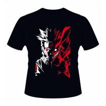 Camisa Camiseta Anime Naruto/kyuubi Shippuden Mangá