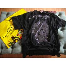 Ed Hardy Camiseta Preta L