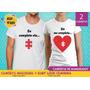Camisetas De Namorados Ela Me Completa Coração Quebra Cabeça