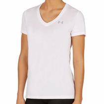 Camisa Under Armour ®tech V Gola V Feminina 1255839-100 Novo