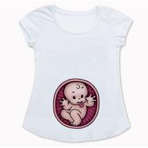 Bata Blusinha Para Gestante Chá De Bebê Mãe Personalizada S2