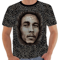 Camiseta Bob Marley - Modelo 10 - 3 D