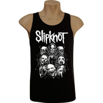 Camiseta Regata Masculina Rock Bandas Slipknot