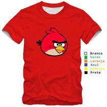 Camisa Camiseta Angry Birds Modelos Diferentes 100% Algodão