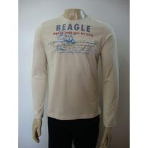 Ref 65-camiseta Beagle Masculina Bege