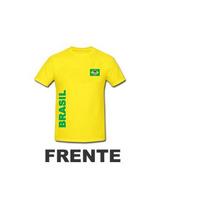 Copa America Camiseta Personalizada Do Brasil Amarela -