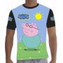 Camisa Camiseta Aniversário Peppa Pig Personalizada