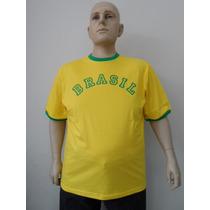 Camisetas Brasil Tamanho Grande 48 Ao 66 - 4pç Por R$100,00