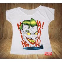 Blusa Feminina Gola Canoa Coringa Joker Batman Game Filme