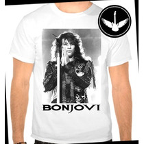 Camiseta Bon Jovi Baby Look Regata Hard Rock Banda Blusa