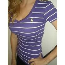 Camisetas Femininas Gola V Ralph Lauren