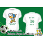 Camiseta Infantil Mascote Fuleco Copa Brasil 2014 Dalsassu´s
