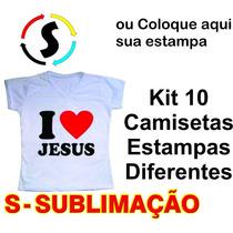 Kit 10 Camiseta Camisa Personalizada Estampa A3 Empresa