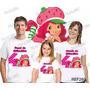 Lembrança De Aniversario Moranguinho Camiseta Kit Com 3