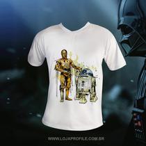 Guerra Estrelas Camisa R2-d2 - C3po - Darth Vader - Oficial