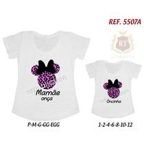 Camisetas Minnie Tal Mãe Tal Filha T-shirt Kit 2 Unid