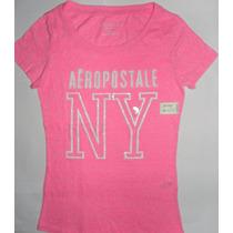 Camiseta Aeropostale Feminina Vários Modelos Baby Look