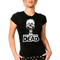 Camiseta The Walking Dead Baby Look Feminina Bandas Rock