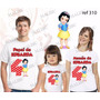 Lembrança De Aniversario Branca De Neve Camiseta Kit Com 3