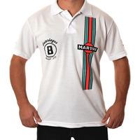 Camisa Polo Fórmula Retrô - Brabham Bt44b 1975 - Martini F1
