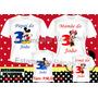 Kit 4 Camiseta Personalizada Aniversario Mickey/ Mario Sonic