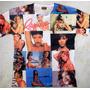 Camiseta Rihanna Estampada Só Na Frente Modelo Basico