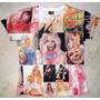 Camiseta Britney Spears Estampada Só Na Frente Feminina