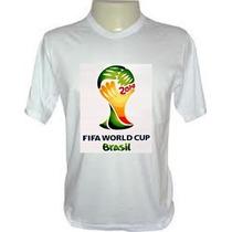 Camiseta Taça Copa 2014 Com Seu Nome Tradicional Baby Look