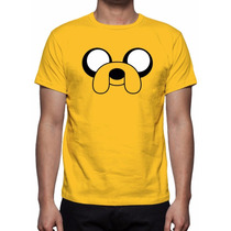 Camisa, Camiseta Hora De Aventura Jake - Estampa Total