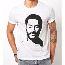 Camiseta Criolo Doido Rap Nacional Pintada À Mão