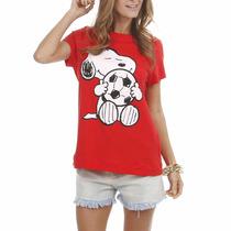 Blusa Estampada Snoop Vermelha E Branca Angel