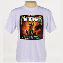 Camiseta Rock - Manowar, Guns N Roses, Ufo
