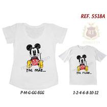 Kit Camisetas T-shirt Tal Mãe Tal Filha(o) Mickey -segurança