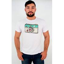 Camisetas - Máquina Fotográfica - Estampada - Personalizada