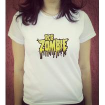 Babylook Camiseta Estampada Rob Zombie