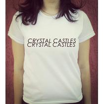 Babylook Camiseta Estampada Crystal Castles