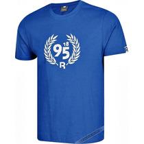 Camiseta Masculina Reebok Original Azul Branca P Algodão