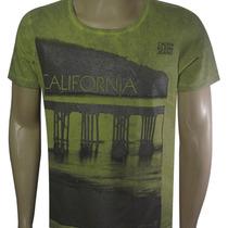 Camiseta Calvin Klein Jeans Califórnia Verde - Frete Grátis