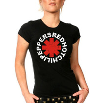 Camiseta Baby Look Feminina Bandasrock Red Hot Chili Peppers