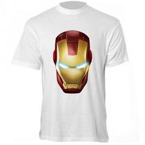 Camiseta Homem De Ferro - Camisa Super Heroi, Os Vingadores
