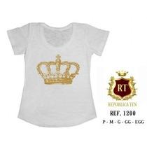 Camisetas T-shirts Blusas Femininas - Menor Preço Estampas