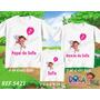 Kit Camisetas Personalizadas Aniversário Dora Aventureira