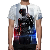 Camisa, Camiseta Robocop 2014 - Estampa Frente E Costa