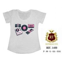Camisetas T-shirts Blusas Femininas Musica - Rock
