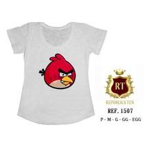 Camisetas Angry Birds T-shirts Blusas Femininas E Infantil