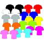 Camisetas Lisas Varias Cores E Tamanhos Pv Malhas Fria