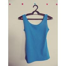 Blusa Feminina Azul Decote Nas Costas Cód. 3