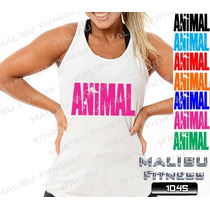 Regata Feminina Academia Animal Zumba Musculação Malhar