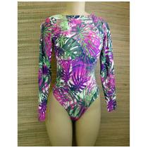 Body Modelador Costas Nua Estampa Floral Pronta Entrega!!